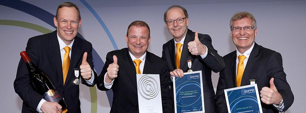 """ESPRIX Preisträger 2017 """"Durch Mitarbeiterinnen und Mitarbeiter erfolgreich sein"""""""