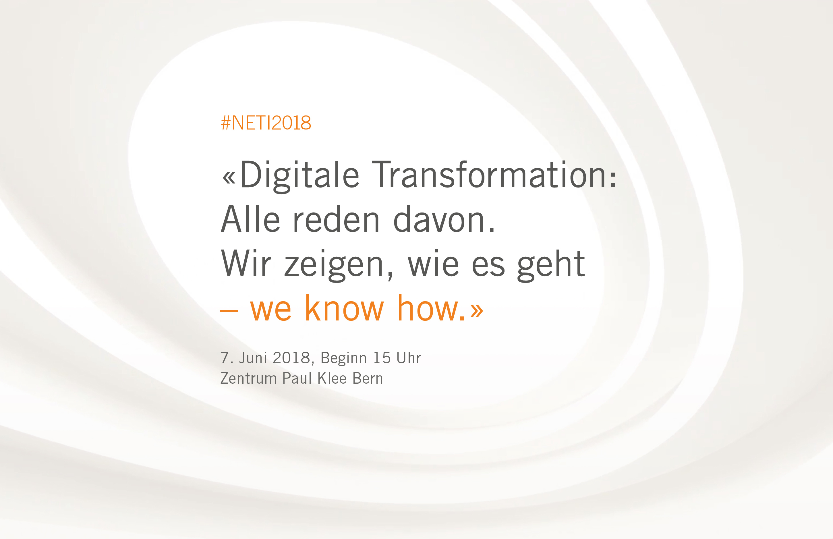 #NETI2018 Noser Engineering Technologie-Impulse in Bern